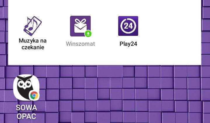 Katalog Biblioteki na ekranie głównym smartfona