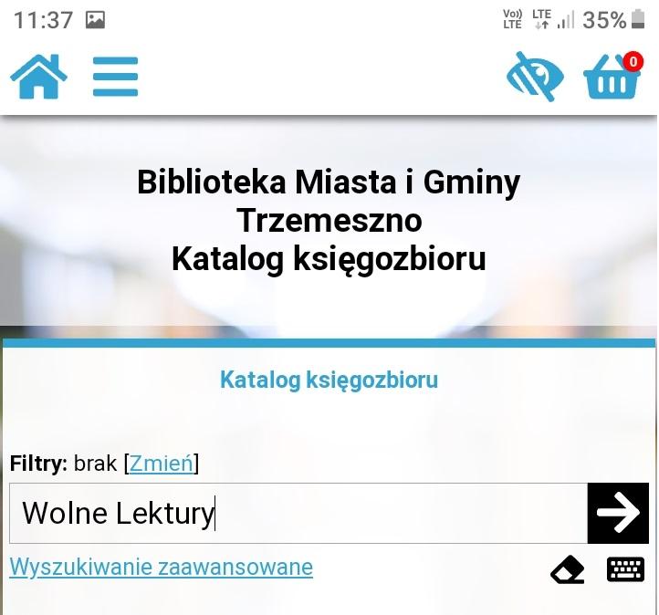 Katalog Biblioteki na smartfonie