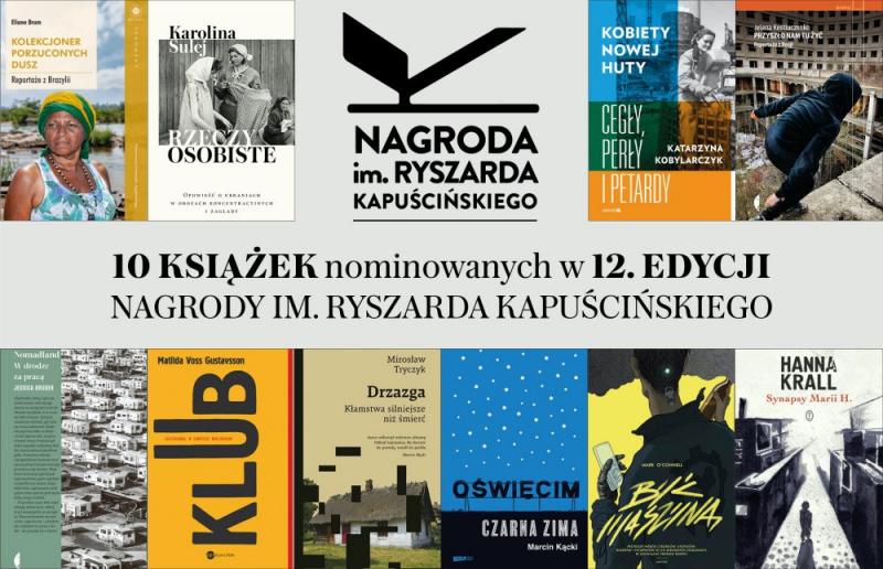 Finałowa piątka Nagrody im. Ryszarda Kapuścińskiego za najlepszy reportaż 2020 roku